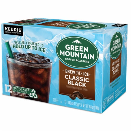 Green Mountain Coffee® Brew Over Ice Classic Black K-CupPods Perspective: right