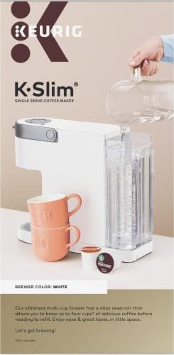 Keurig® K-Slim® Single Serve Coffee Maker - White Perspective: right