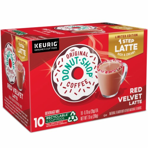 The Original Donut Shop® Red Velvet Latte K-Cup® Coffee Pods Perspective: right