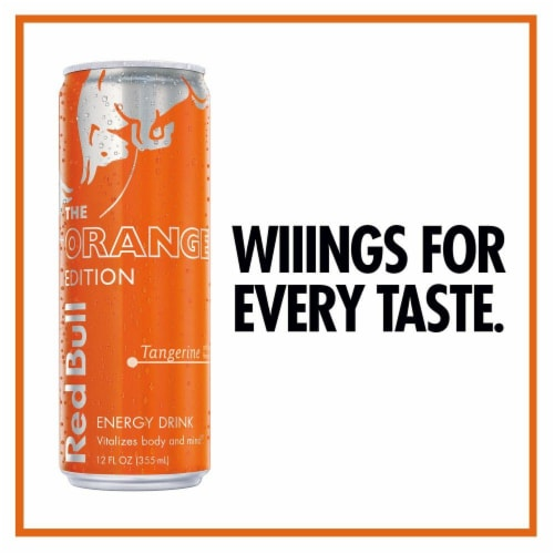 Red Bull The Orange Edition Tangerine Energy Drink Perspective: right