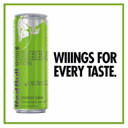 Red Bull The Green Edition Kiwi Apple Energy Drink Perspective: right