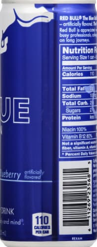 Red Bull Blue Edition Blueberry Energy Drink Perspective: right