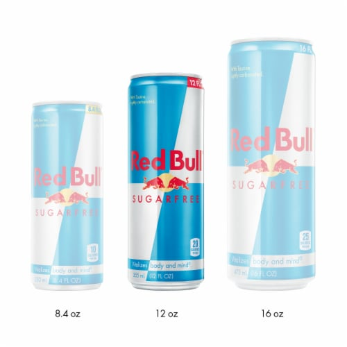 Red Bull Sugar Free Energy Drink Perspective: right
