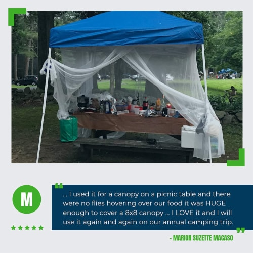 MEKKAPRO Ultra Large Mosquito Net with Carry Bag, Large 2 Openings Netting Curtains Perspective: right