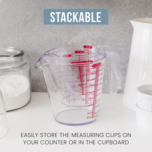Chef Pomodoro 3-Piece Measuring Cup Set Perspective: right