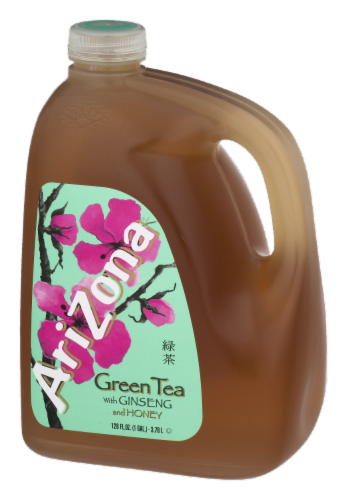 AriZona Ginseng and Honey Green Tea Perspective: right