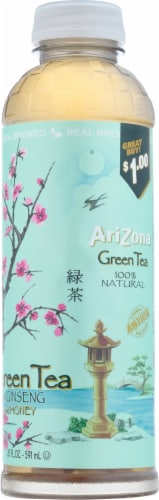 AriZona Green Tea with Ginseng and Honey Perspective: right