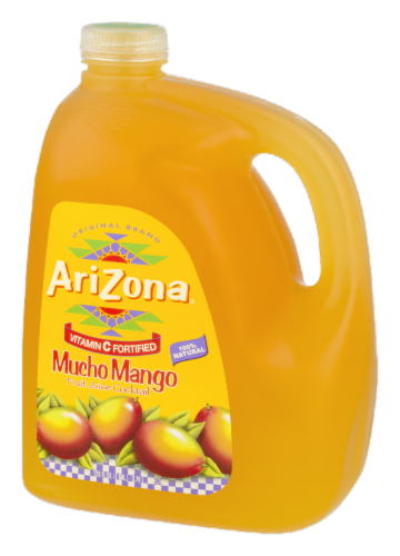 AriZona Mucho Mango Fruit Juice Cocktail Perspective: right