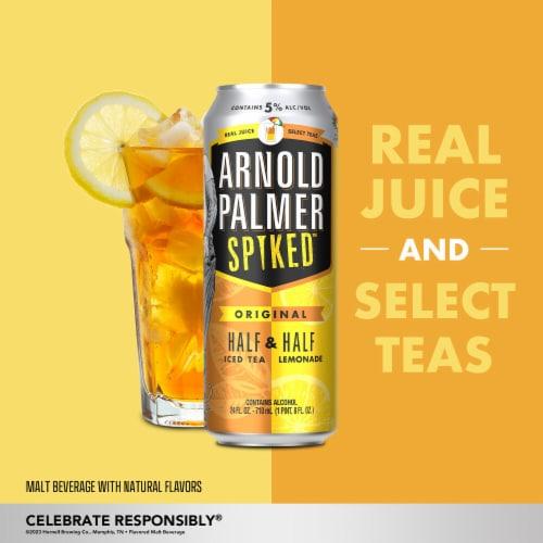Arnold Palmer Spiked Half & Half Ice Tea Lemonade Flavored Malt Beverage Perspective: right