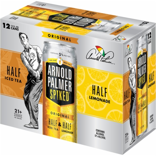 Arnold Palmer Spiked Original Half Iced Tea & Half Lemonade Malt Beverage Perspective: right