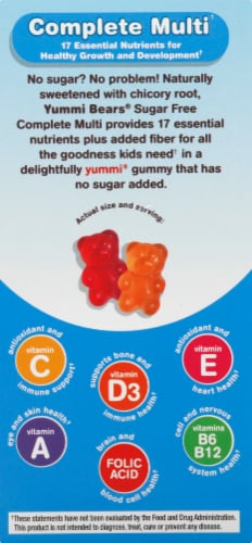 Yummi Bears Sugar Free Multi-Vitamin & Mineral Supplements Perspective: right