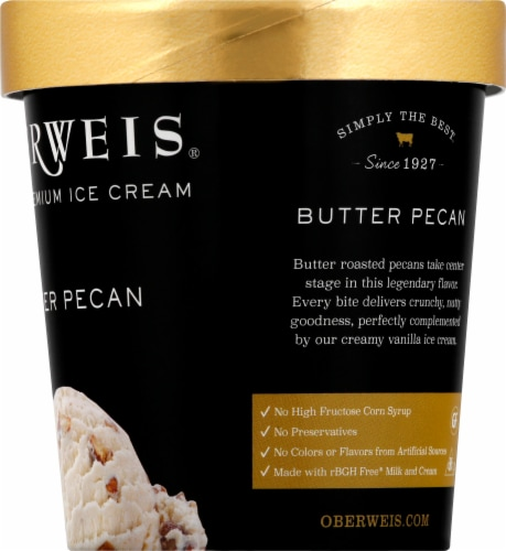 Oberweis Butter Pecan Ice Cream Perspective: right