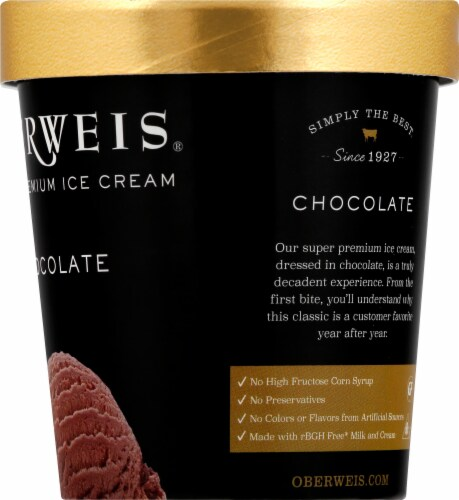 Oberweis Chocolate Ice Cream Perspective: right