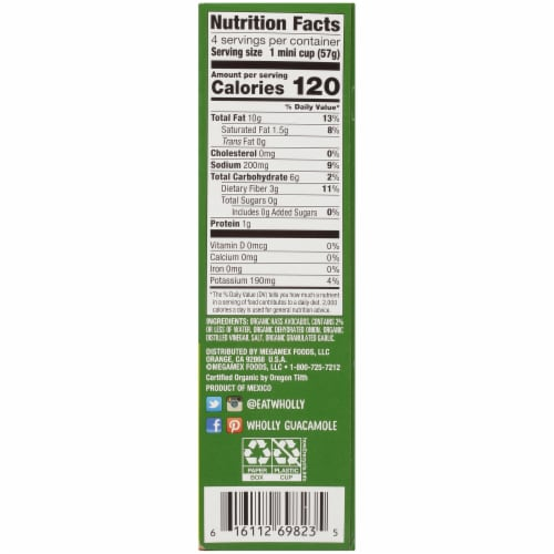 Wholly Guacamole® Organic Mild Guacamole Minis Perspective: right