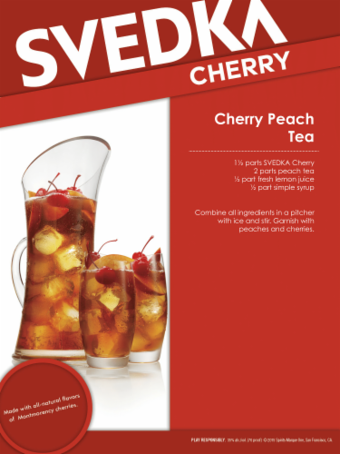 Svedka Cherry Vodka Perspective: right