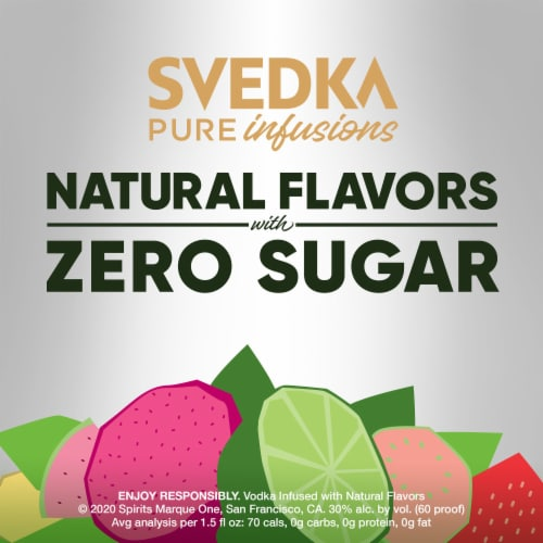 Svedka Pure Infusions Ginger Lime Flavored Vodka Perspective: right