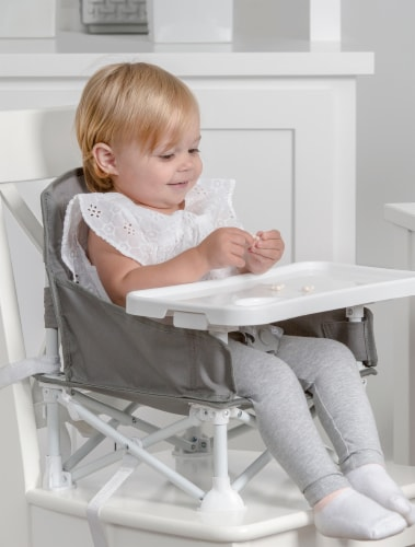 Regalo Portable Booster Seat & High Chair - Gray Perspective: right