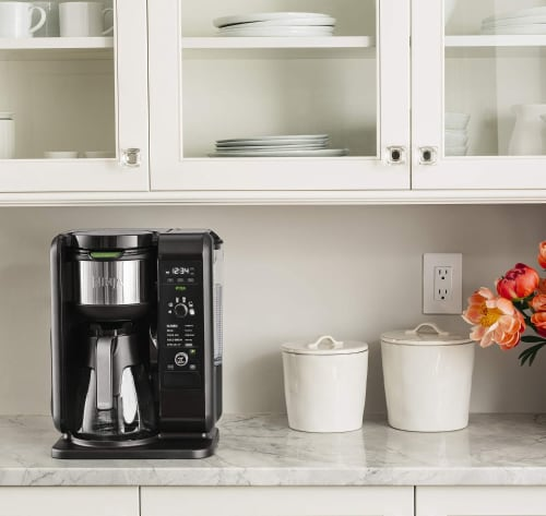 Ninja® Hot and Cold Brewed System™ Coffee Maker - Black/Silver Perspective: right