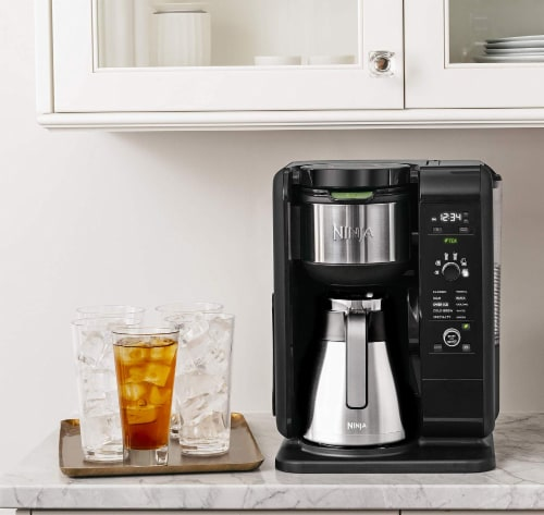 Ninja® Hot & Cold Brewed System Coffee Maker - Black/Silver Perspective: right
