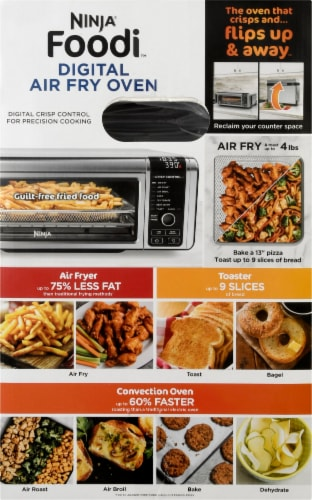 Ninja Foodi Digital Air Fryer Oven - Stainless Steel Perspective: right