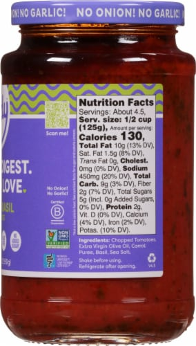 Fody Foods Tomato Basil Pasta Sauce Perspective: right