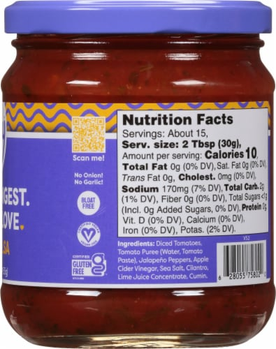 Fody Foods Mild Salsa Perspective: right