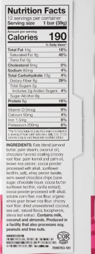 Love Good Fats Coconut Chocolate Chip Keto Snack Bars Perspective: right