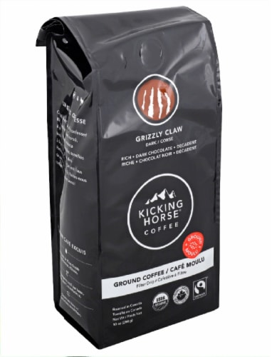 Kicking Horse Coffee Grizzly Claw Dark Ground Coffee Perspective: right