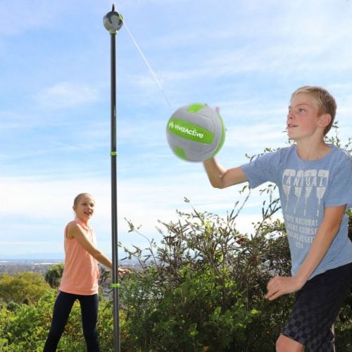 Viva Active Ultimate 2 in 1 Swingball and Tetherball Set with Paddles Included Perspective: right