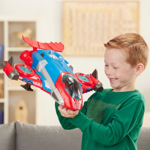 Hasbro Playskool Marvel Super Hero Adventures Spider-Man Jetquarters Toy Perspective: right