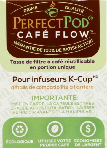 Perfect Pod Cafe-Flow Reusable Single-Serve Coffee Filter Cup Perspective: right