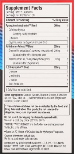 Hydroxycut Hardcore Rapid-Release Dietary Supplement Capsules 60 Count Perspective: right