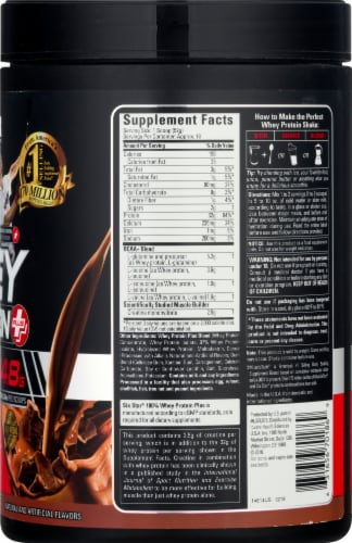 Six Star Triple Chocolate Whey Protein Powder Chocolate Perspective: right