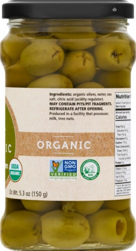 Divina Organic Pitted Green Olives Perspective: right