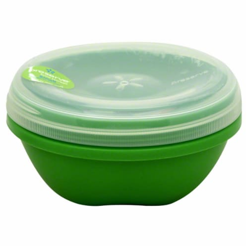 Preserve Apple Green Small Round Food Storage Container Perspective: right