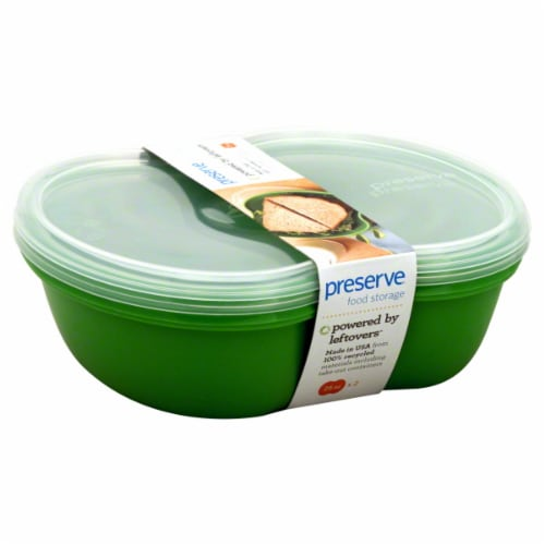 Preserve Square Food Storage Container Sandwich 2-pack Apple Green Perspective: right