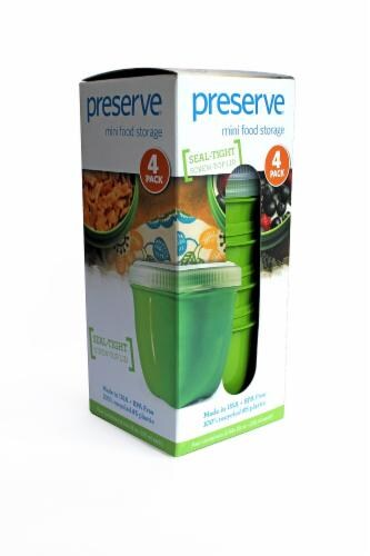 Preserve Mini Food Storage 4 Pack Apple Green Perspective: right
