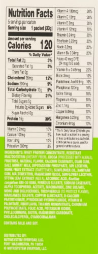 Nutrisystem Chocolate Fudge Protein & Probiotic Shake Mix Perspective: right