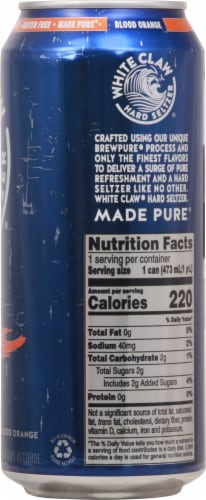 White Claw® Gluten Free Surge Blood Orange Hard Seltzer Can Perspective: right