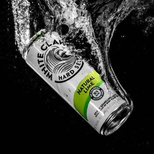 White Claw Natural Lime Hard Seltzer Perspective: right