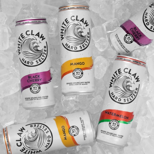 White Claw Variety Pack Black Cherry Mango & Watermelon Hard Seltzer Perspective: right