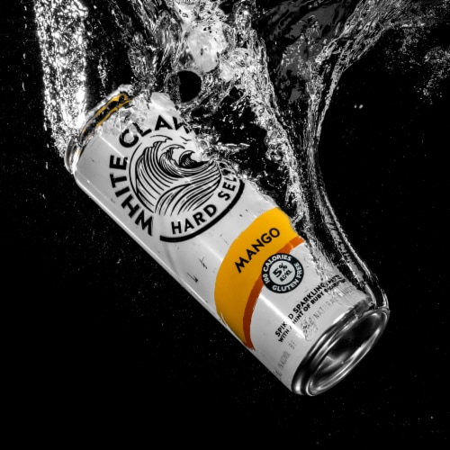 White Claw Mango Spiked Seltzer Water Perspective: right