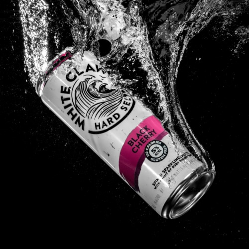 White Claw Black Cherry Hard Seltzer Perspective: right