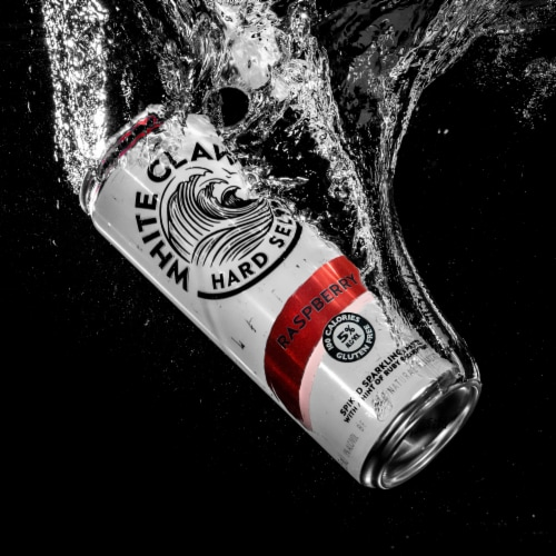 White Claw Raspberry Hard Seltzer Perspective: right