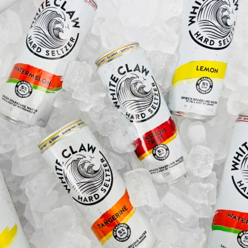 White Claw Lemon Watermelon Tangerine & Mango Variety Pack Perspective: right