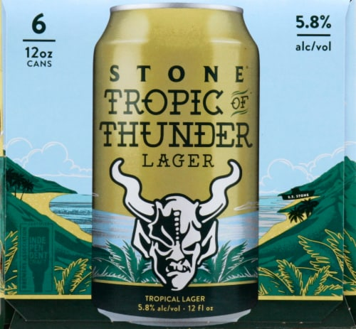 Stone Brewing Co Tropic of Thunder Lager Perspective: right
