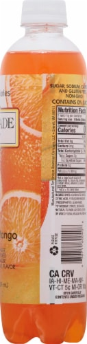 Cascade Ice Sparkling Orange Mango Water Perspective: right
