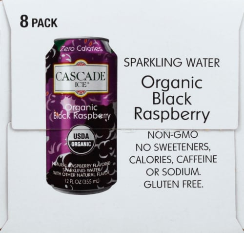 Cascade Ice Organic Black Raspberry Sparkling Water Perspective: right
