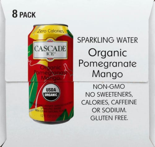 Cascade Ice Organic Pomegranate Mango Sparkling Water Perspective: right
