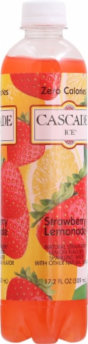 Cascade Ice Sparkling Strawberry Lemonade Water Perspective: right